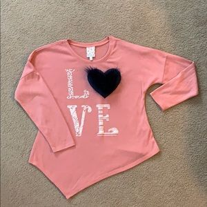 Other - Girls Youth Asymmetrical Long Sleeve Tee